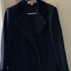 Ladies Liz Claiborne long Black winter coat